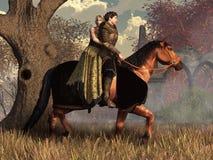 Chevalier et demoiselle illustration libre de droits