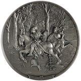 Chevalier et lansquenet de bas-relief photo libre de droits