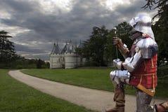 Chevalier par Chateau Chaumont photographie stock
