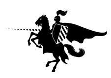 Chevalier sur le cheval Image libre de droits