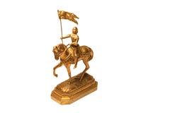 Chevalier sur le cheval Photo libre de droits