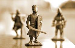 Chevaliers avec l'épée Photo stock
