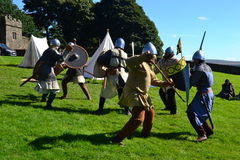 Chevaliers combattant en Lancashire Image stock