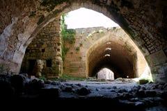 Chevaliers de DES de Krak, croisés forteresse, Syrie Photo libre de droits