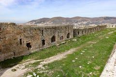 Chevaliers del DES di Krak, Siria Fotografia Stock
