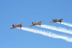 'Chevaliers du sud' dans le vol en formation de Harvards Image libre de droits