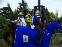 Chevaliers joutant, château de Wenecja, Pologne Photo stock