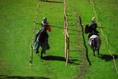 Chevaliers sur des chevaux Photos libres de droits
