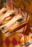 Chevaux abstraits de carrousel Image stock