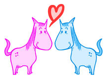 Chevaux d'amour Images stock