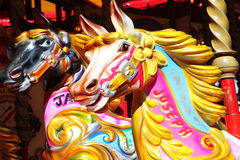 Chevaux de carrousel Images stock