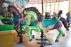Chevaux de carrousel au Siam Park City Image libre de droits