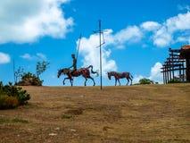 Chevaux de fer historiques du Cuba images stock
