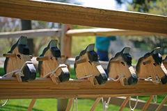 Chevaux en bois Photographie stock