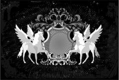 Chevaux et ailes Images libres de droits