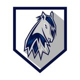 Chevaux Logo Template Photographie stock