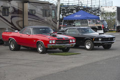 Chevelle and mustang competitors Stock Images
