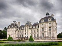 Cheverny Castel in de Loire-Vallei, Frankrijk - Juli 10, 2012 - Achter Royalty-vrije Stock Afbeelding