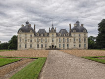 Cheverny Castel in Loire Valley, France - July 10, 2012 - Front Royalty Free Stock Images