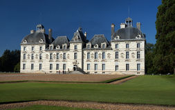 Cheverny Castle Chateau and Blue Sky. Photo of the cheverny castle chateau in the loire valley region of france.  This castle was built by 1630 Stock Images