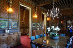 Cheverny Castle Chateau Dining Room. Photo of dining room at the cheverny castle in france in the loire valley region on 9/12/4 stock photography