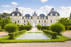 Cheverny Chateau and garden. Cheverny Chateau from apprentices garden, France Series Royalty Free Stock Photography