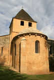 The chevet of the church Saint-Caprais in Carsac-Aillac, France. Royalty Free Stock Photography