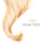 Cheveu blond Photos libres de droits