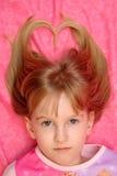 Cheveu blond de coeur image stock