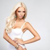 Cheveu blond. Image de haute qualité. Photographie stock