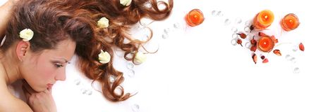 Cheveu bouclé Photo stock