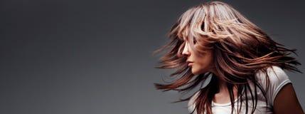 Cheveu dans le mouvement Image stock