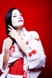 Cheveu de configuration de geisha Photos stock