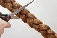 Cheveu de découpage Images stock