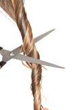 Cheveu de découpage de femme images stock