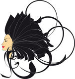 Cheveu de femme illustration libre de droits