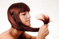 cheveu de fille long Photo stock