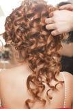 Cheveu de jeune mariée photo libre de droits