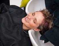 Cheveu de lavage Photographie stock