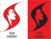 Cheveu de logo de fille de vecteur illustration stock