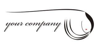 Cheveu de logo pour votre compagnie Photographie stock
