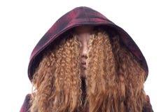 Cheveu de Madame au-dessus de visage Images libres de droits