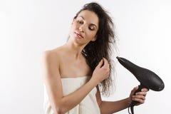 Cheveu de séchage Image libre de droits