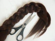 Cheveu et ciseaux Image libre de droits