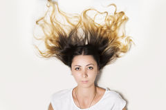 Cheveu fou photographie stock libre de droits