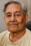 Cheveu indien de gris d'homme photographie stock