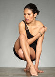 Cheveu noir woman-01 figuratif Photos libres de droits
