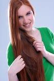 Cheveu rouge Photos libres de droits