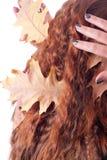 Cheveu rouge avec des lames Image libre de droits