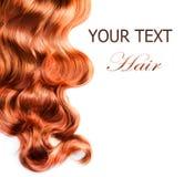 Cheveu rouge bouclé Photo stock